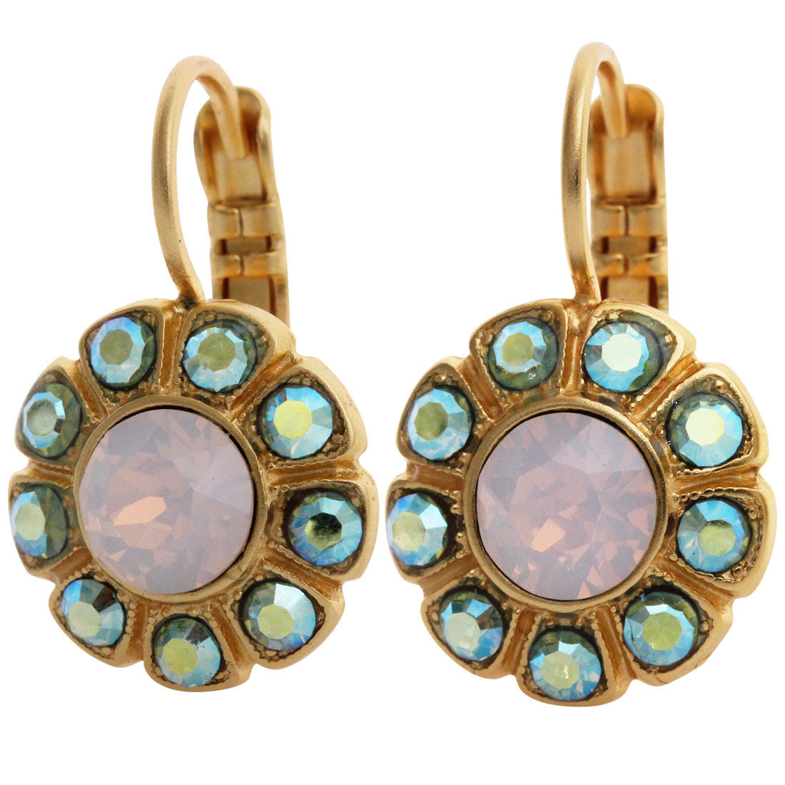 Mariana Gold Plated Sunflower Swarovski Crystal Earrings, Eternity 1131 1028yg