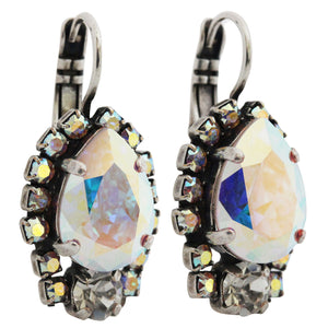 "Mariana ""On A Clear Day"" Silver Plated Teardrop Surrounding Crystal Earrings, 1259/1 001AB"