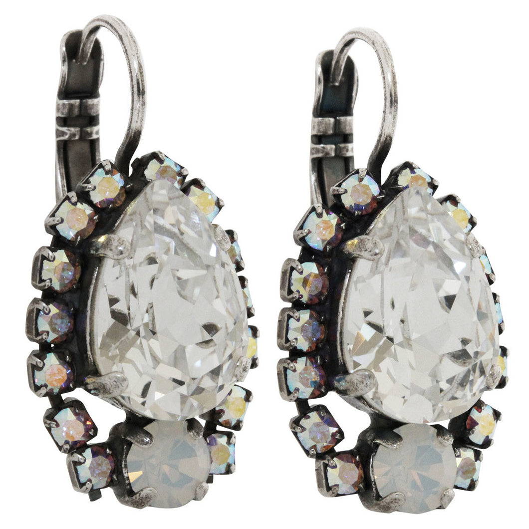 Mariana Silver Plated Teardrop Surrounding Crystal Earrings, On A Clear Day 1259/1 0011AB