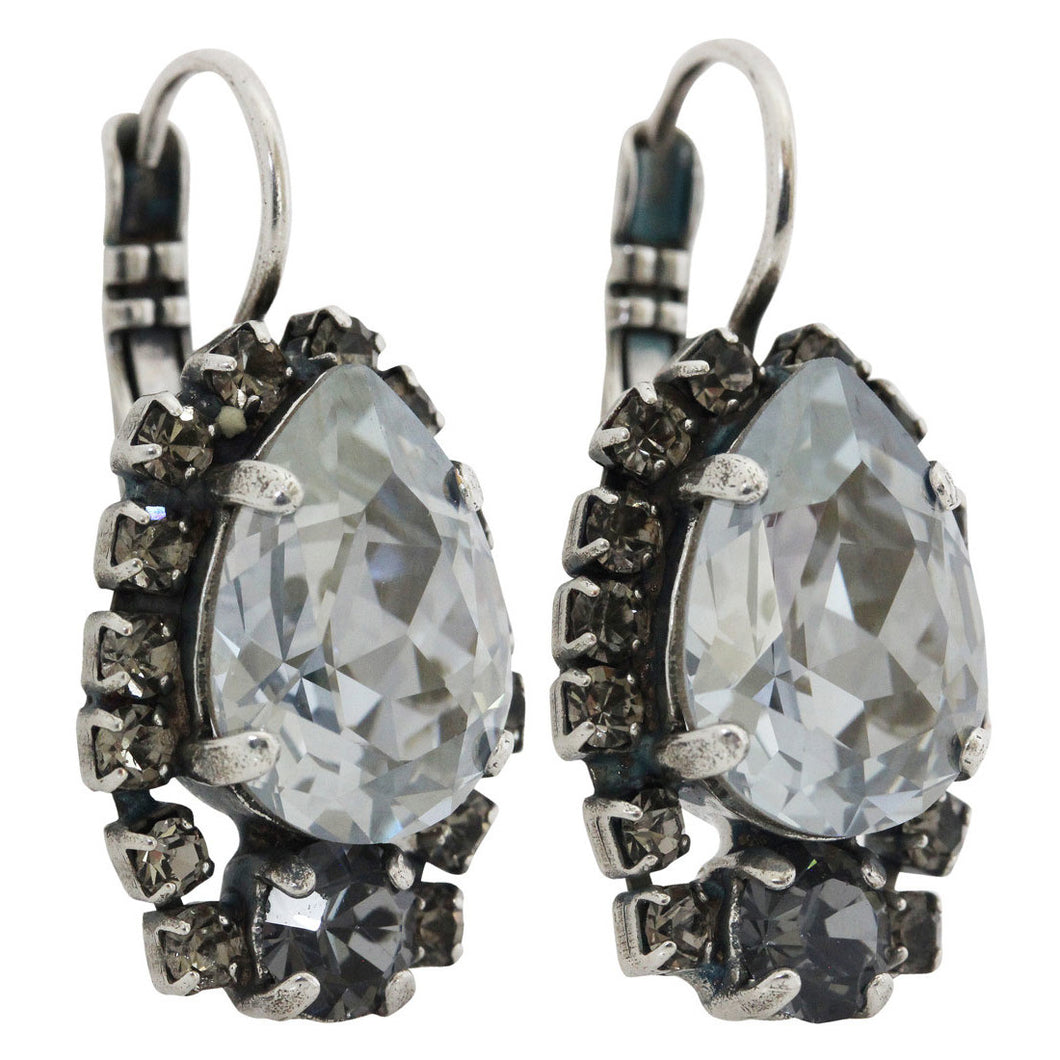 Mariana Zulu Silver Plated Teardrop Surrounding Crystal Earrings, 1259/1 1080