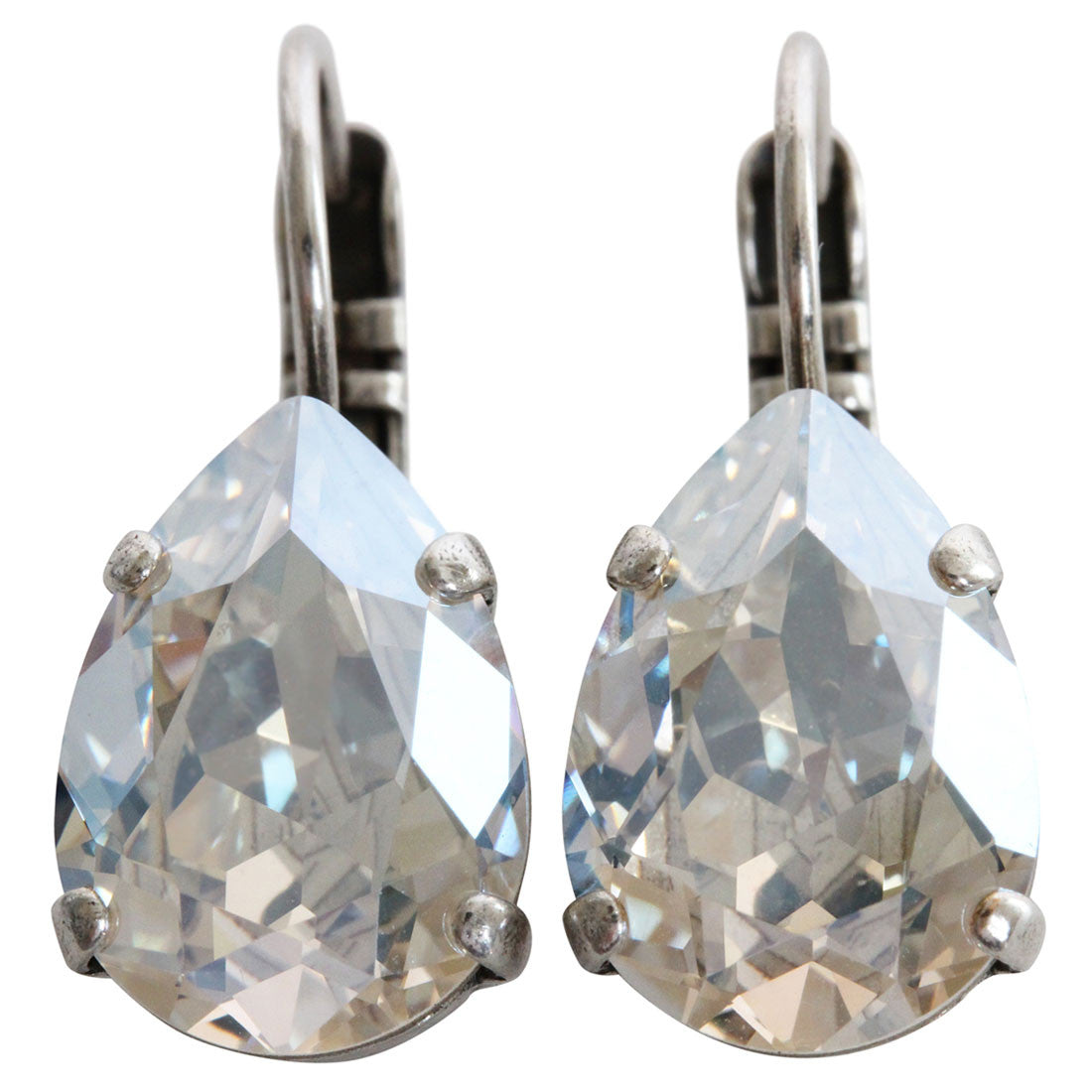 Mariana Silver Plated Teardrop Swarovksi Crystal Earrings, Gardenia Moonlight 1032/1 001MOL