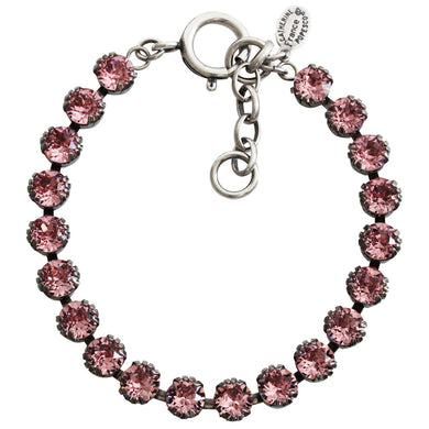 Catherine Popesco Sterling Silver Plated Crystal Tennis Bracelet, 7.5