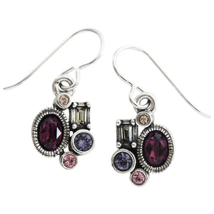 "Patricia Locke ""Wee"" Sterling Silver Plated Earrings, Purple Rain EF1041S"