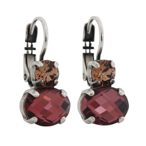 Mariana Daphne Silver Plated Double Oval Drop Small Crystal Swarovski Earrings, 1462 1330