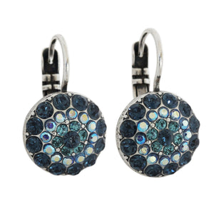 Mariana Tranquility Silver Plated Moondust Round Swarovski Crystal Earrings, 1141 207
