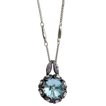 "Mariana ""Prism Pastel"" Silver Plated Rivoli Cut Crystal Surround Swarovski Pendant Necklace, 19.5"" 5070 001VL"