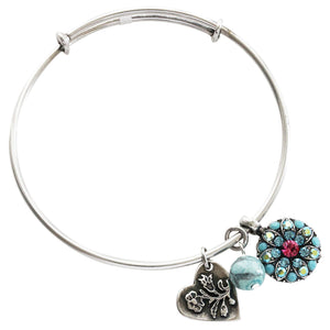 "Mariana Guardian Angel Swarovski Crystal Bangle Bracelet, 2.5"" Summer Fun 4612M 3711"
