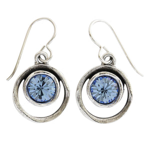 Patricia Locke Skeeball Sterling Silver Plated Earrings, Light Blue EF0619S