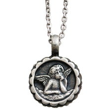 "Mariana Guardian Angel Swarovski Crystal Pendant Necklace, 19"" Blue Clear 5212 21120"