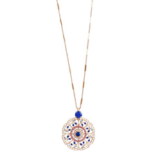 "Mariana ""Kiss from a Rose"" Rose Gold Plated Filigree Flower Floral Large Statement Swarovski Crystal Pendant Necklace, 30"" 5210 1068mr"