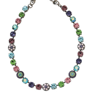 "Mariana ""Pastel Multi"" Silver Plated Flower Shapes Swarovski Crystal Necklace, 3044/1 88"
