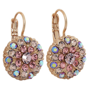 "Mariana ""Flamingo"" Rose Gold Plated Flower Blossom Swarovski Crystal Earrings, 1029 319mr"