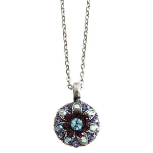 "Mariana Guardian Angel Swarovski Crystal Pendant Necklace, 16"" Purple Aqua 5212 153"