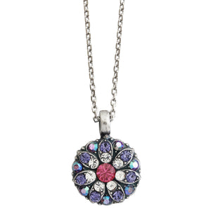 "Mariana Guardian Angel Swarovski Crystal Pendant Necklace, 19"" Purple Fuchsia 5212 300-1"