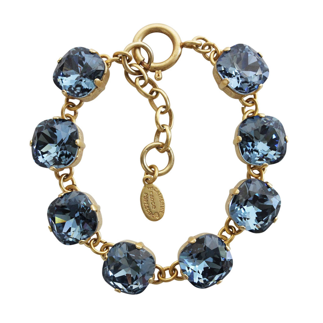 Catherine Popesco 14k Gold Plated Crystal Round Bracelet, 1696G Midnight