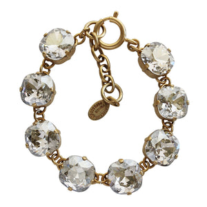"Catherine Popesco 14k Gold Plated Crystal Round Bracelet, 7-8"" 1696G Shade"
