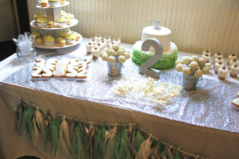 Pleasant Mint Silver 2Nd Birthday Dessert Table The Sweet Party Shop Funny Birthday Cards Online Overcheapnameinfo