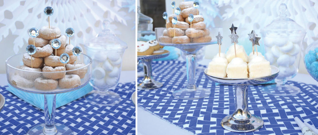 Blue White Christmas Dessert Table Inspiration The Sweet Party Shop