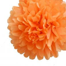 Large Orange Paper Pom Pom