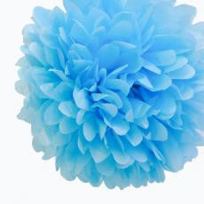 Medium Light Blue Paper Pom Pom