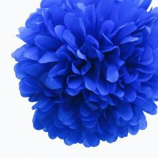 Large Dark Blue Paper Pom Pom - The Sweet Hostess