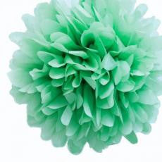 Medium Mint Paper Pom Pom - The Sweet Hostess