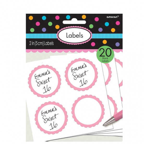 Light Pink Sweet Labels