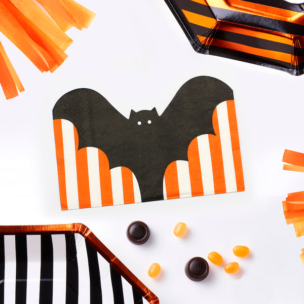Striped Bat Paper Napkins