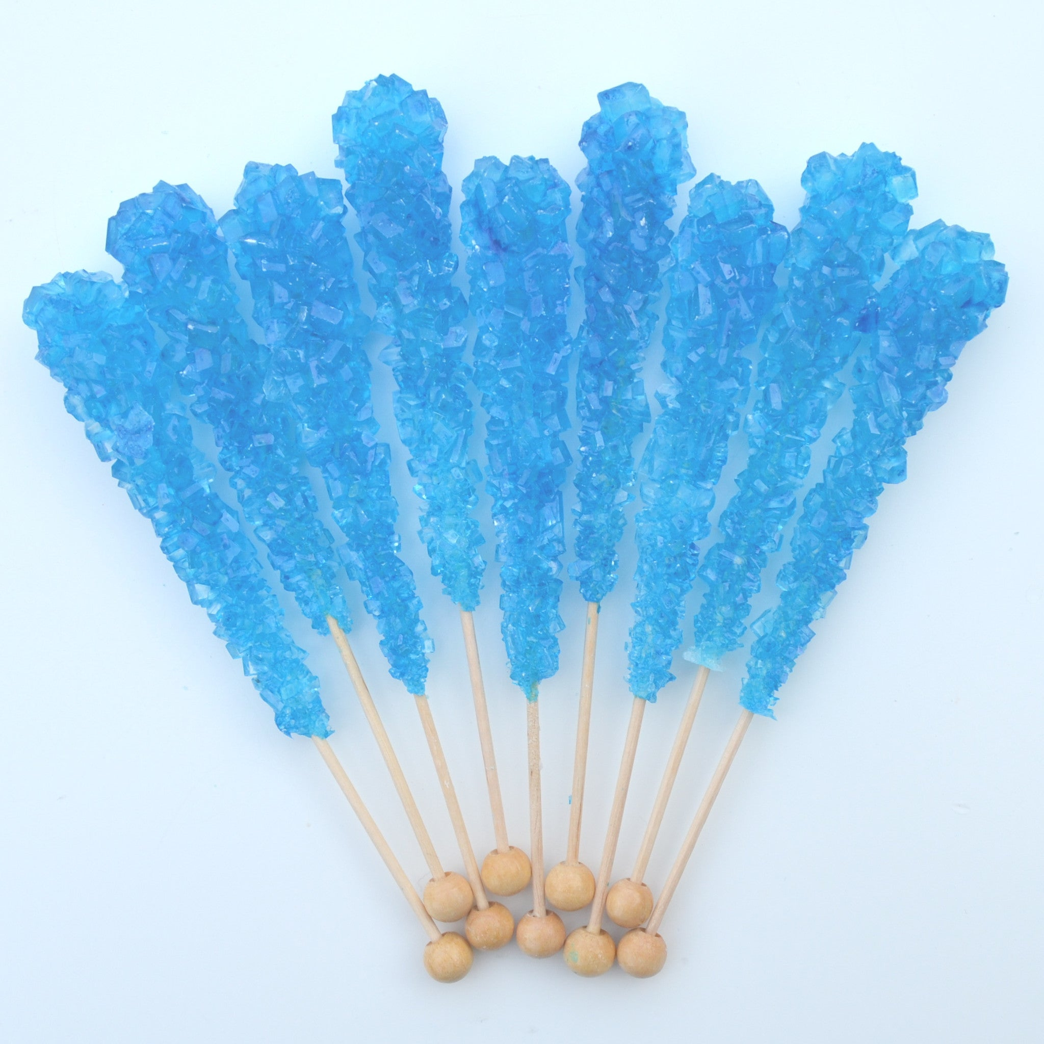 Blue Raspberry Sugar Swizzle Sticks 10 Pack - The Sweet Hostess