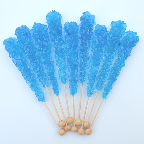 Blue Raspberry Sugar Swizzle Sticks 10 Pack