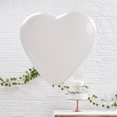 Large White Heart Balloons 3 Pack - The Sweet Hostess  - 2