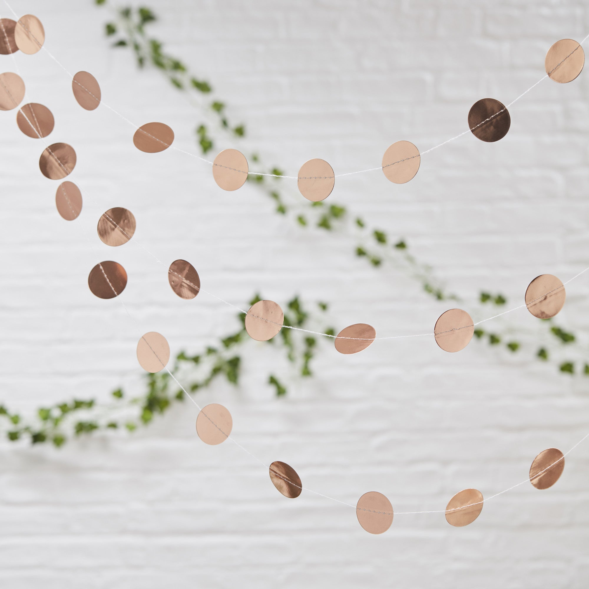 Rose Gold Circle Garland - The Sweet Hostess