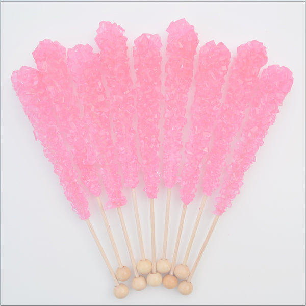 Pink Cherry Sugar Swizzle Sticks 10 Pack