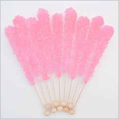 Cherry Sugar Swizzle Sticks 10 Pack - The Sweet Hostess