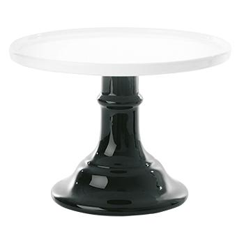 Large Ceramic Black & White Cake Stand