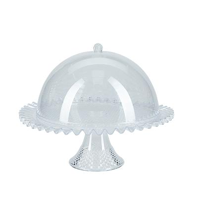 Acrylic Cake Stand with Dome Lid - Clear