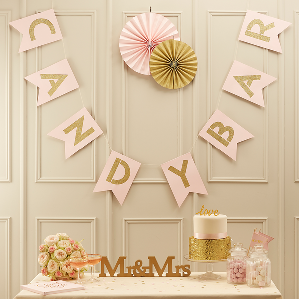 Gold Glitter Candy Bar Bunting