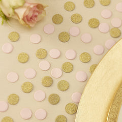 Pink and Gold Glitter Confetti - The Sweet Hostess  - 3