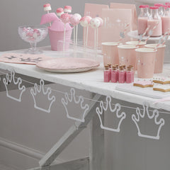 .Silver Glitter Crown Bunting Decoration - The Sweet Hostess  - 1