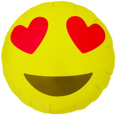 Emoji Heart Eyes Foil Balloon - The Sweet Hostess  - 1