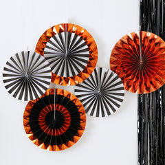 Halloween Foiled Mixed Pack Fan Decorations