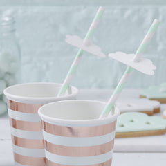 Cloud Paper Straws Hello World - The Sweet Hostess