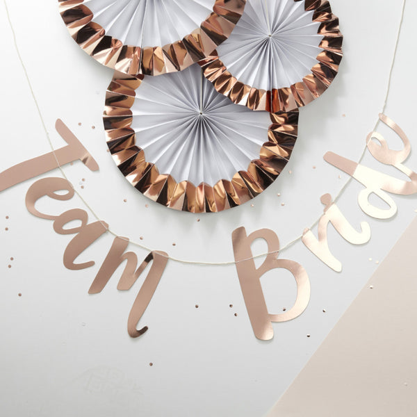 Rose Gold Hen Party Banner