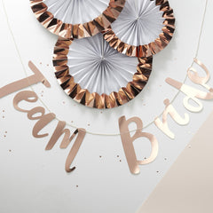 Rose Gold Hen Party Banner - The Sweet Hostess