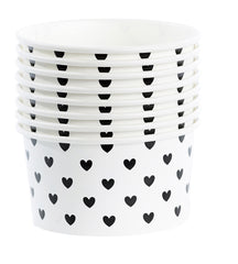 Black Heart Ice Cream Cups - The Sweet Hostess  - 2