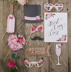 Boho Wedding Day Photo Booth Props
