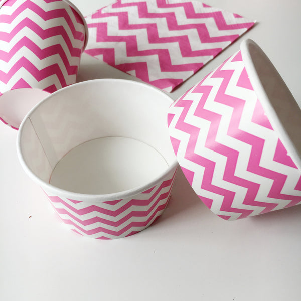 Pink Chevron Treat Cups