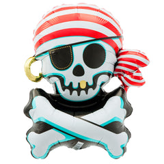 Jolly Roger Pirate Foil Balloon - The Sweet Hostess