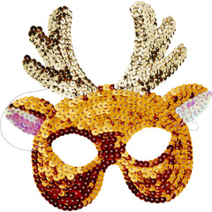 Sequin Reindeer Mask - The Sweet Hostess