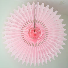 Pink Paper Fan 26 inch - The Sweet Hostess